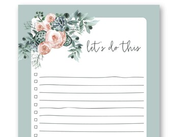 Let's Do This - To Do List - Magnetic Notepad