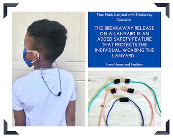 Kids Face mask  breakaway lanyards straps// Breakaway Paracord Lanyards // Face mask strap//  Breakaway Face Mask Lanyards