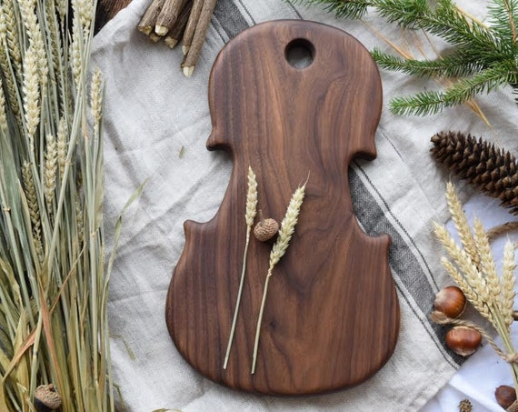 the Fiddle | MADE TO ORDER Walnut bread board