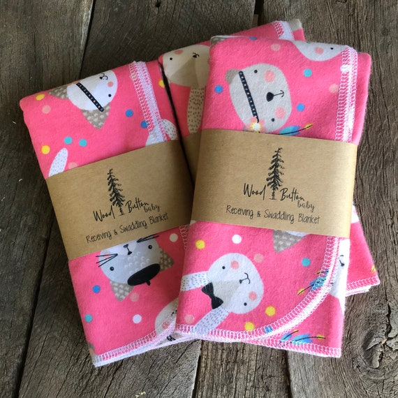 Baby Receiving Blankets | Pretty Kitties Swaddling Blanket, Stroller Blanket, Flannel