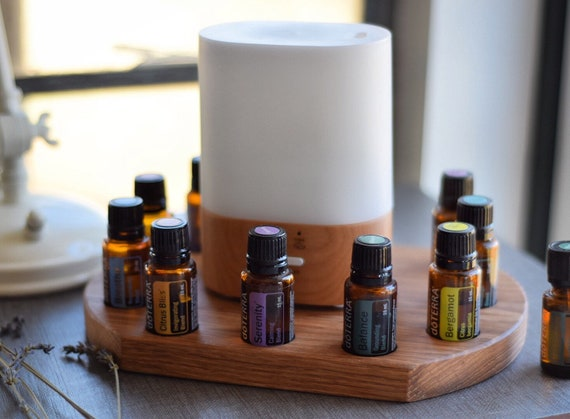 Diffuser Tray | 15ml Wooden Display Stand or Holder, Essential Oil Organizer