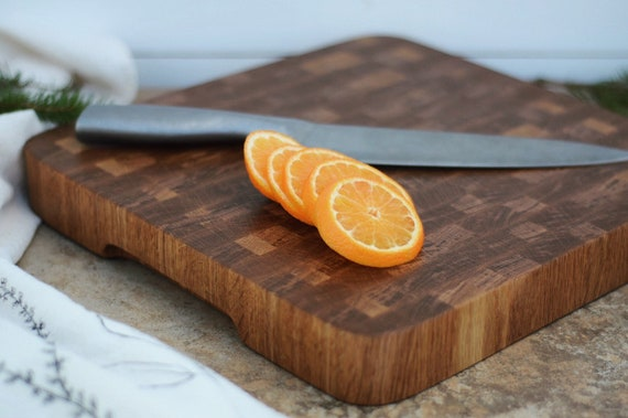 the Butcher | White Oak End Grain Butcher Block, bread board, cheese board, cutting board, serving board