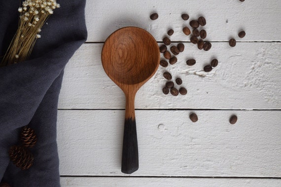 Cabin Spoon Collection: Rustic White Oak Coffee Scoop Spoon | MADE TO ORDER kitchen utensil, hand crafted serving spoon, stirring spoon