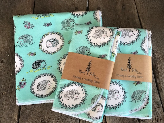 Baby Receiving Blankets | Hedgehog  Swaddling Blanket, Stroller Blanket, Flannel