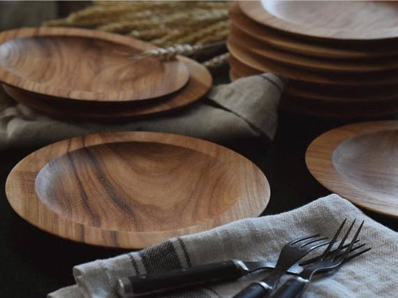 Salad Plate | Made to Order Hickory wooden plate, cheese tray, charger, serving plate, display base