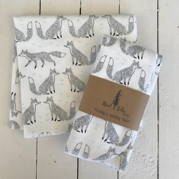 Baby Receiving Blankets | fox friend Swaddling Blanket, Stroller Blanket, Flannel