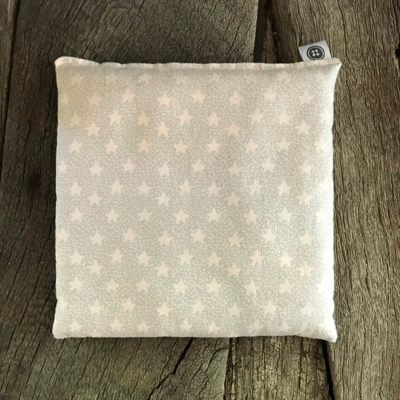 Rice Pack Minis | gray with pink stars, Aromatherapy rice bag, hot and cold therapy, Flax Seed, Microwaveable Rice Heat Pad