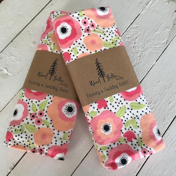 Baby Receiving Blankets | Summer Swaddling Blanket, Stroller Blanket, Flannel