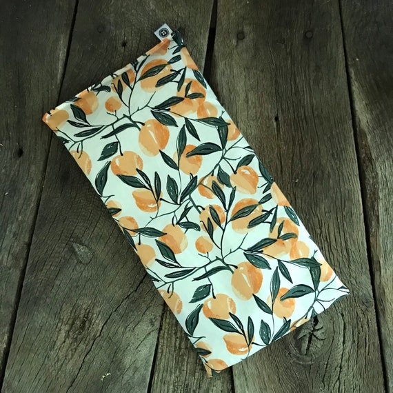 Rice Pack | Peaches, medium size Aromatherapy rice bag, hot and cold therapy, Flax Seed, Microwaveable Rice Heat Pad