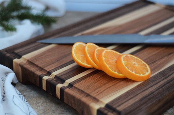 the Everyday | Walnut and Hickory Edge Grain bread board, cheese board, cutting board, serving board