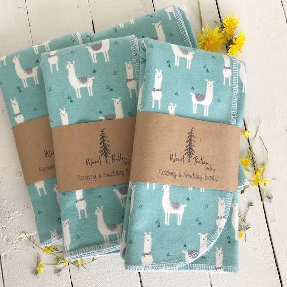 Baby Receiving Blankets | Llamas Swaddling Blanket, Stroller Blanket, Flannel