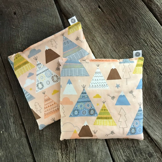 Rice Pack Minis | teepees, Aromatherapy rice bag, hot and cold therapy, Flax Seed, Microwaveable Rice Heat Pad