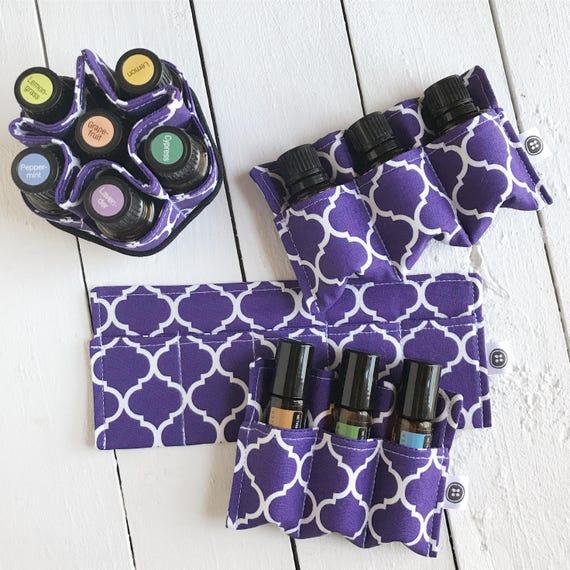 Essential Oil Bag Insert | Purple Essential Oil Holder, Essential Oil Case, Roller Bottle Storage, Travel Case