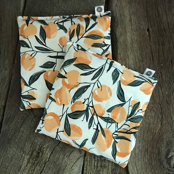 Rice Pack Minis | Peaches, Aromatherapy rice bag, hot and cold therapy, Flax Seed, Microwaveable Rice Heat Pad
