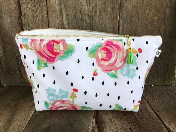 Extra Large Water Resistant Bag | Roses