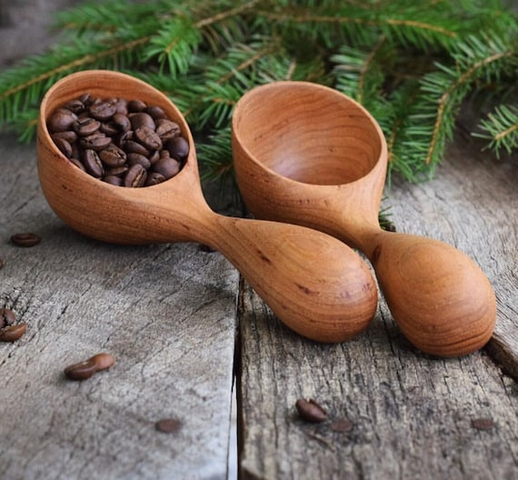 Coffee Scoop | MADE TO ORDER Handmade Wooden Spoon, Measureing Spoon, Coffee Scoop, Walnut Wood