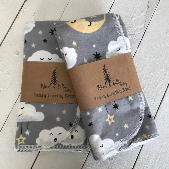 Baby Receiving Blankets | Dreamy Swaddling Blanket, Stroller Blanket, Flannel