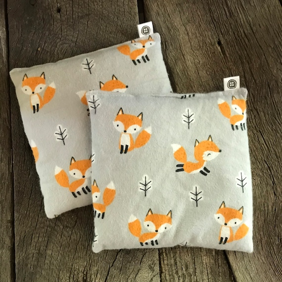 Rice Pack Minis | fox, Flannel Aromatherapy rice bag, hot and cold therapy, Flax Seed, Microwaveable Rice Heat Pad