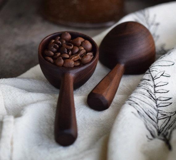 Coffee Scoop | MADE TO ORDER Handmade Wooden Spoon, Measureing Spoon, Coffee Scoop, Walnut Wood