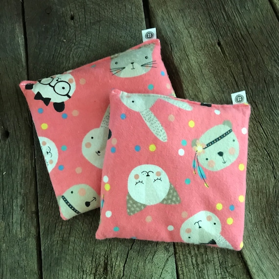 Rice Pack Minis | animal party, Flannel Aromatherapy rice bag, hot and cold therapy, Flax Seed, Microwaveable Rice Heat Pad