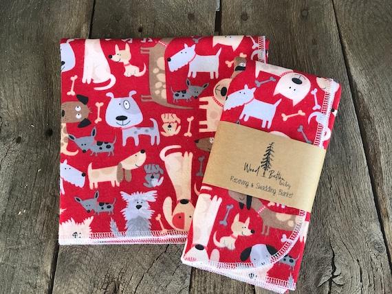 Baby Receiving Blankets | Dog Party Swaddling Blanket, Stroller Blanket, Flannel