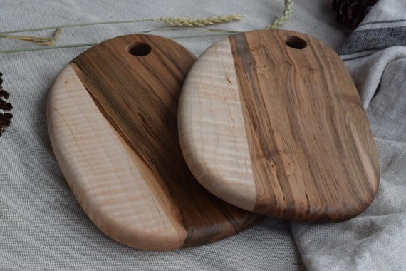 the Little Chef | Made to Order bread board, cheese board, cutting board, serving board, ambrosia and curly maple