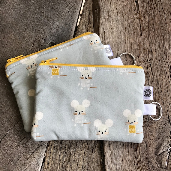Change Purse | Mouse Zipper Pouch, Credit Card Holder, Cotton