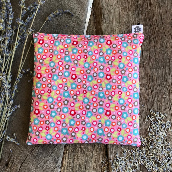 Rice Pack Minis | floral on pink, Aromatherapy rice bag, hot and cold therapy, Flax Seed, Microwaveable Rice Heat Pad