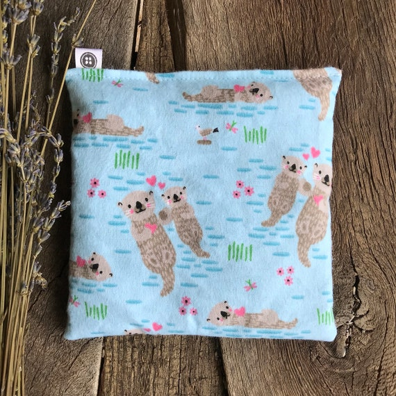 Rice Pack Minis | little otters in flannel fabric, Aromatherapy rice bag, hot and cold therapy, Flax Seed, Microwaveable Rice Heat Pad