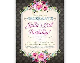 35th Birthday Invite