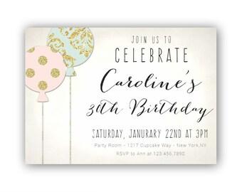 boho 30th birthday invitations for her women s 30th etsy