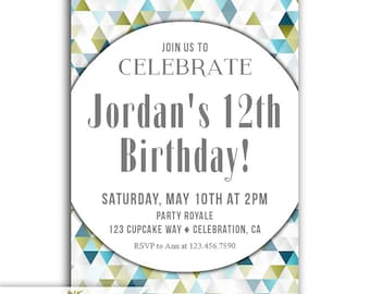 12th birthday invite etsy boys 12th birthday invitations 12th birthday invite 12th birthday party invitations for a boy digital download or personalized printable filmwisefo