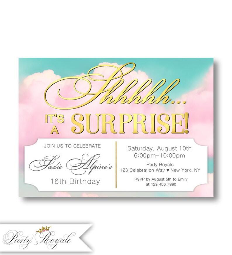 16th Birthday Invitations Surprise Sweet
