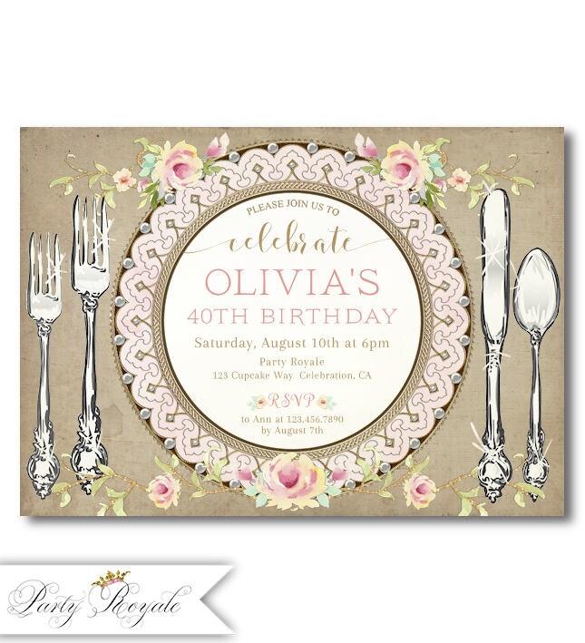 30th Birthday Invitations Birthday Dinner Party