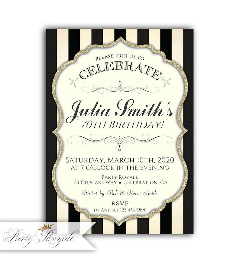 70th Birthday Invitations For Women Invite