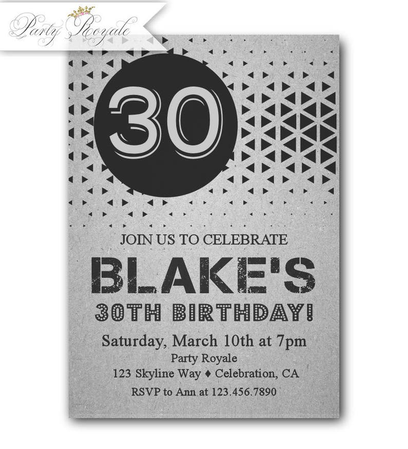 Mens 30th Birthday Invitations For