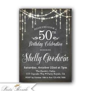 rustic western birthday invitation women s birthday etsy