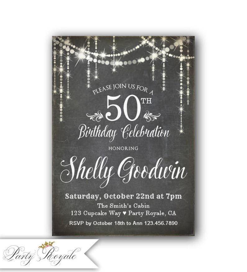50th Birthday Invitation For Her Womens