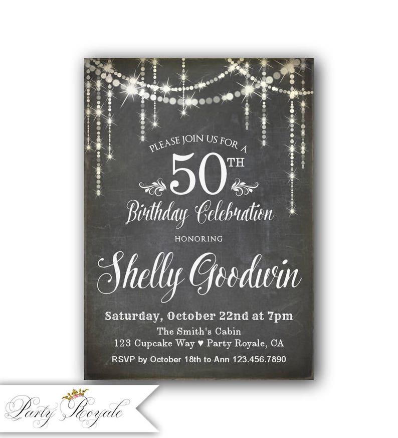 50th Birthday Invitation For Her Women S 50th Birthday Etsy