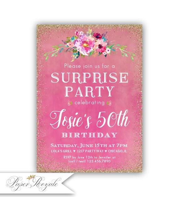 surprise birthday invitation 50th surprise birthday etsy