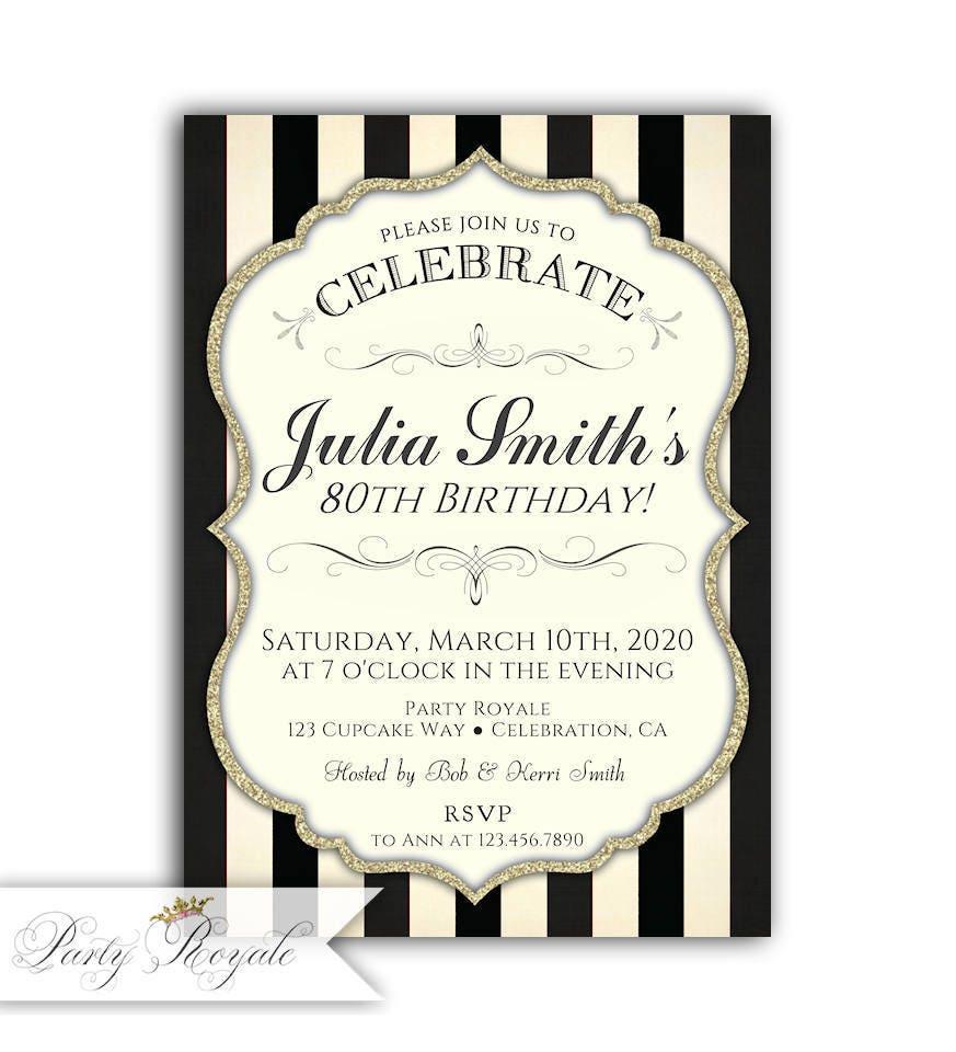 Elegant 30th Birthday Invitations for Women Women\'s | Etsy