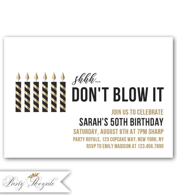 surprise 50th birthday invitation surprise birthday etsy