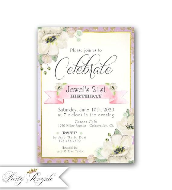 21st Birthday // Milestone Birthday Invitations // 18th
