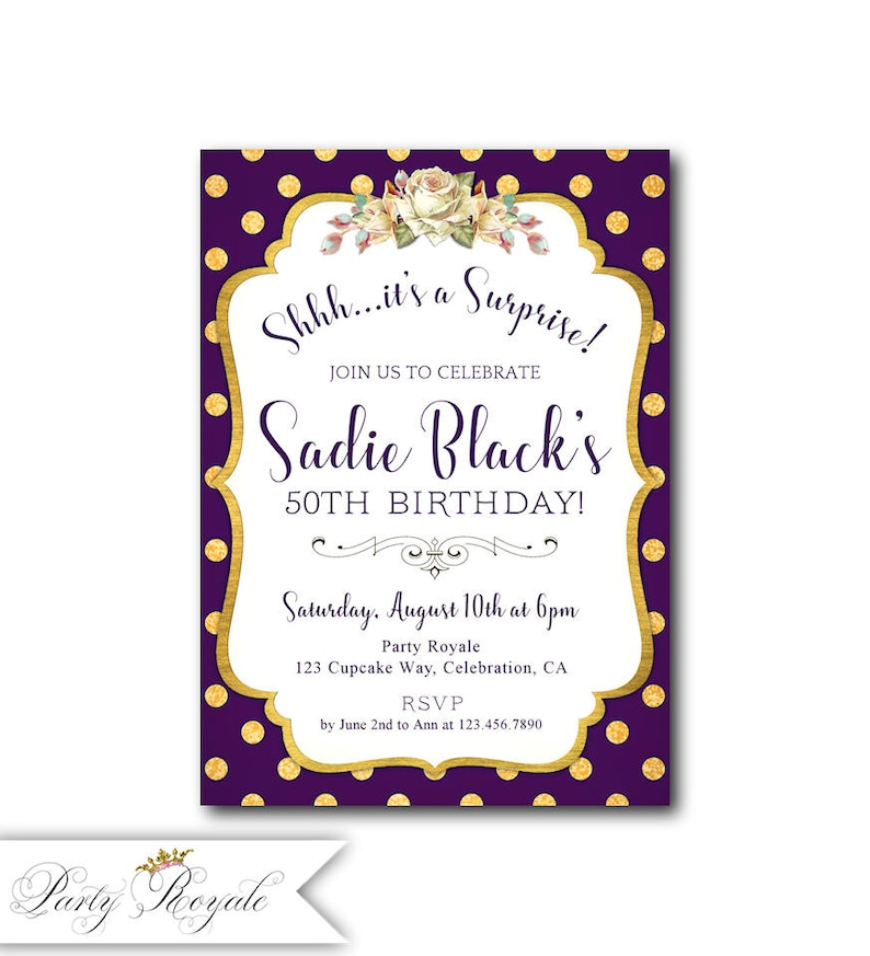 Womens Surprise Party Invitations Birthday