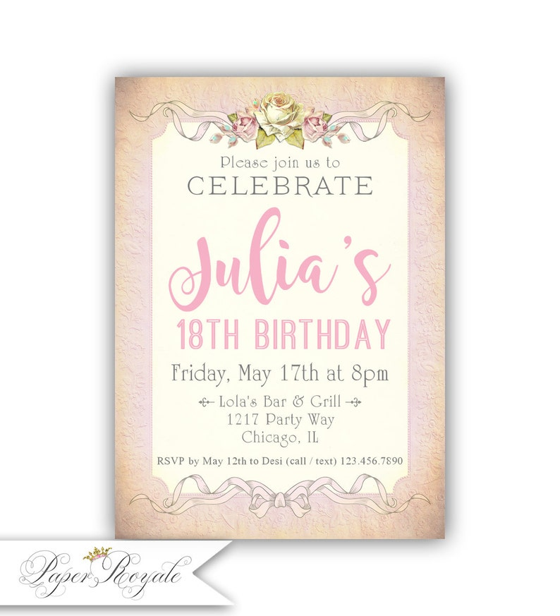 18th Birthday Invitation Party