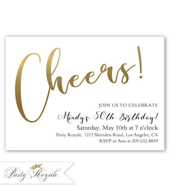 Gold 50th Birthday Invitation Invitations For
