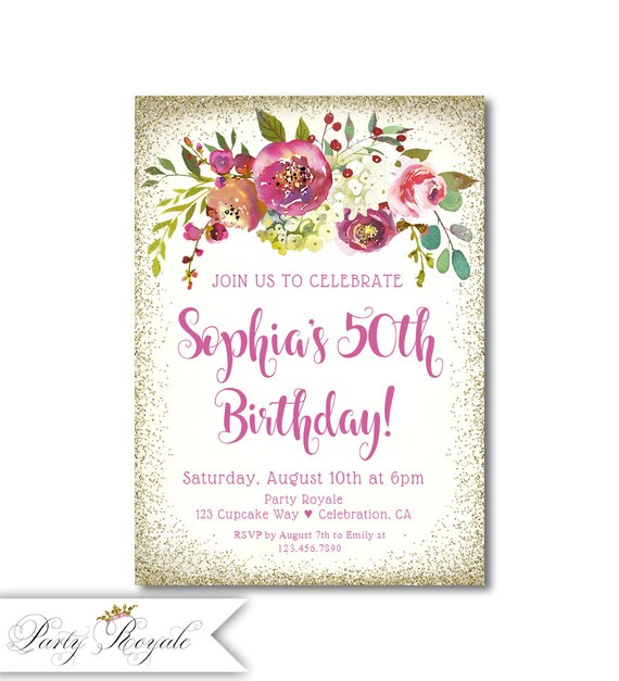 Any Age Flower Cupcake design Birthday Card.Family or Friends Personalised 60th