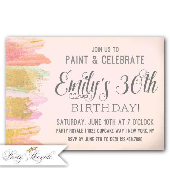 sip and paint party invitation paint night invitations wine etsy