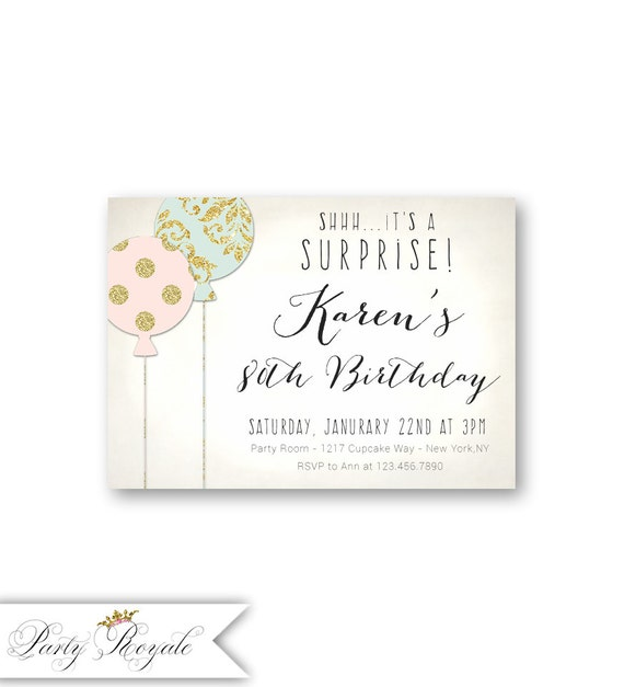 Pastel 80th surprise birthday invitations for her etsy image 0 filmwisefo