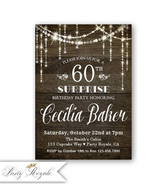 Surprise 60th Birthday Invitation Party